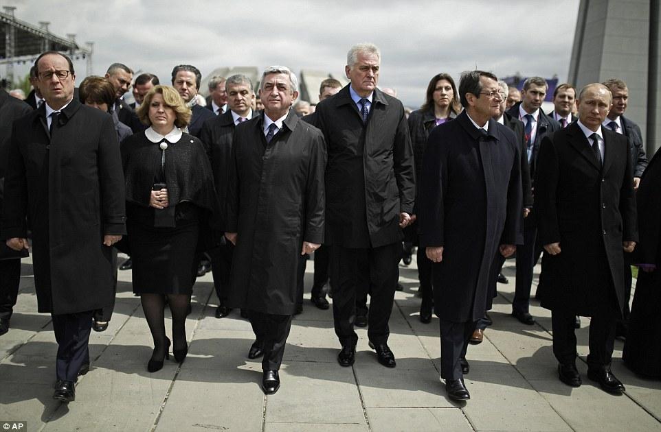 Les pr sidents fran ais et serbe erevan la france en for Chambre de commerce franco serbe